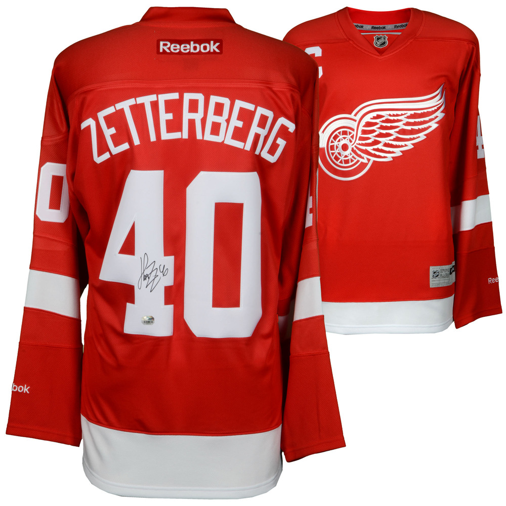 Henrik Zetterberg Detroit Red Wings Autographed Reebok Red Jersey