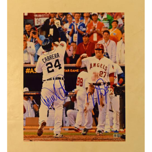 Photo of Miguel Cabrera and Mike Trout Autographed All Star Game 11x14 Photo