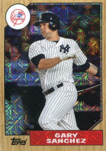 Photo of 2017 Topps '87 Topps Silver Pack Chrome #87GS Gary Sanchez