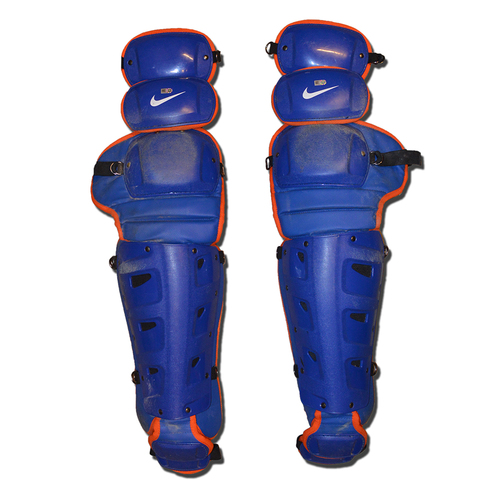 Photo of Team Issued Shin Guards - Nike Blue and Orange - 2017 Season