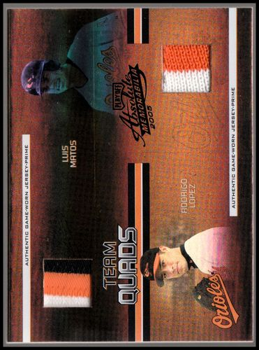 Photo of 2005 Absolute Memorabilia Team Quads Swatch Single Spectrum Prime Black #26 Baltimore Orioles/100