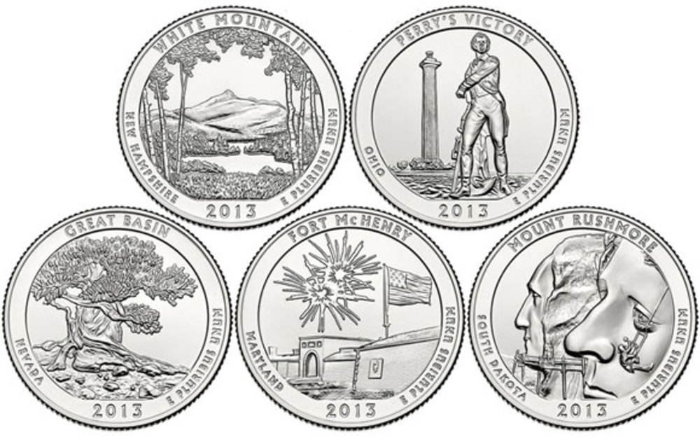 uBid: US Mint 2013 COMPLETE 5 Coin Uncirculated Set National Park ...
