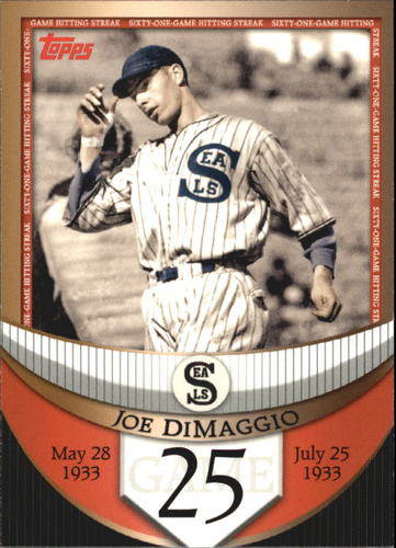 Photo of 2007 Topps DiMaggio Streak Before the Streak #JDSF25 Joe DiMaggio