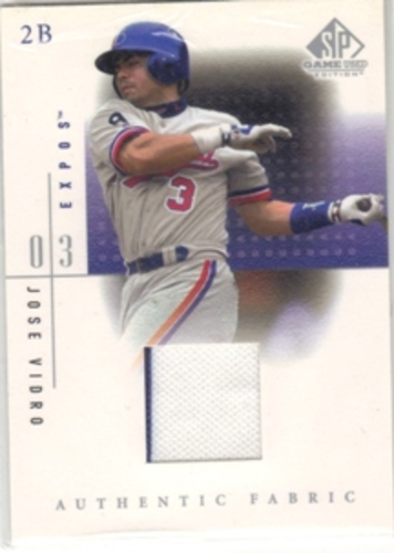 Photo of 2001 SP Game Used Edition Authentic Fabric #JV Jose Vidro