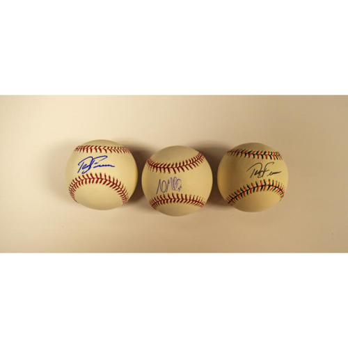 Photo of Andrew Miller and Terry Francona Autographed Baseball Collection (Indians)