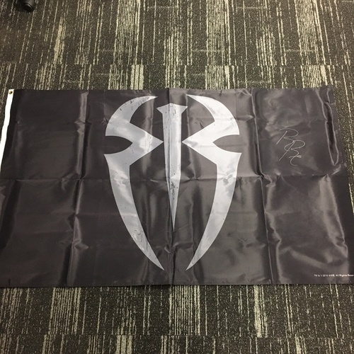 Photo of Roman Reigns SIGNED Flag