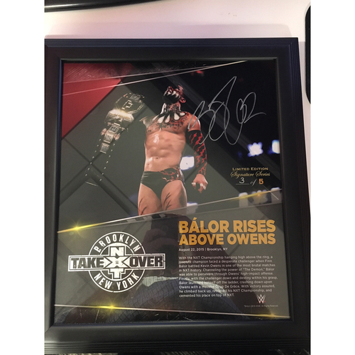 Photo of Finn Bálor Signed NXT: TakeOver Brooklyn Plaque (#3 of 5)