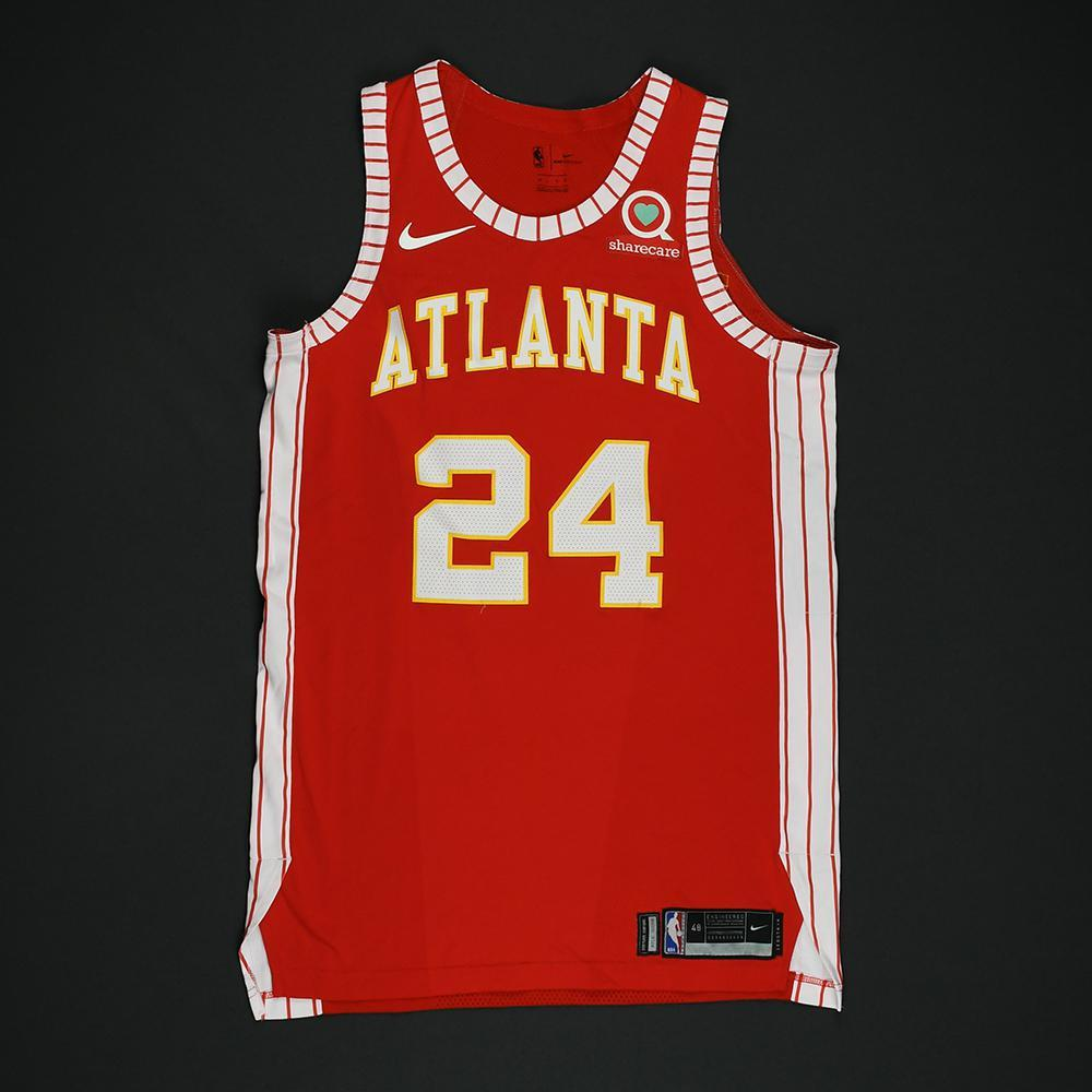 Kent Bazemore - Atlanta Hawks - Game-Worn Classic Edition 1970-72 Road Style Jersey - 2017-18 Season