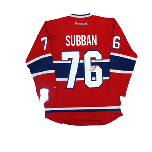 P.K. Subban #76 PLAYER KITZ Signature Series Premier Replica Stitched Signature Montreal Canadiens Home Jersey