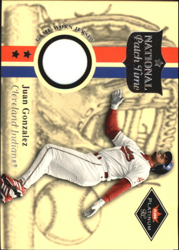 Photo of 2001 Fleer Platinum National Patch Time #19 Juan Gonzalez SP S2