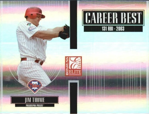 Photo of 2005 Donruss Elite Career Best #15 Jim Thome