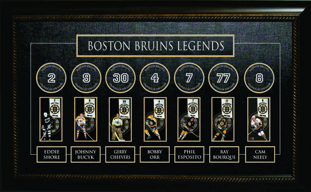 Boston Bruins - All Time Greats Banner Frame