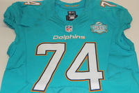 NFL - INTERNATIONAL SERIES - DOLPHINS JASON FOX GAME WORN DOLPHINS JERSEY (OCTOBER 4 2015)
