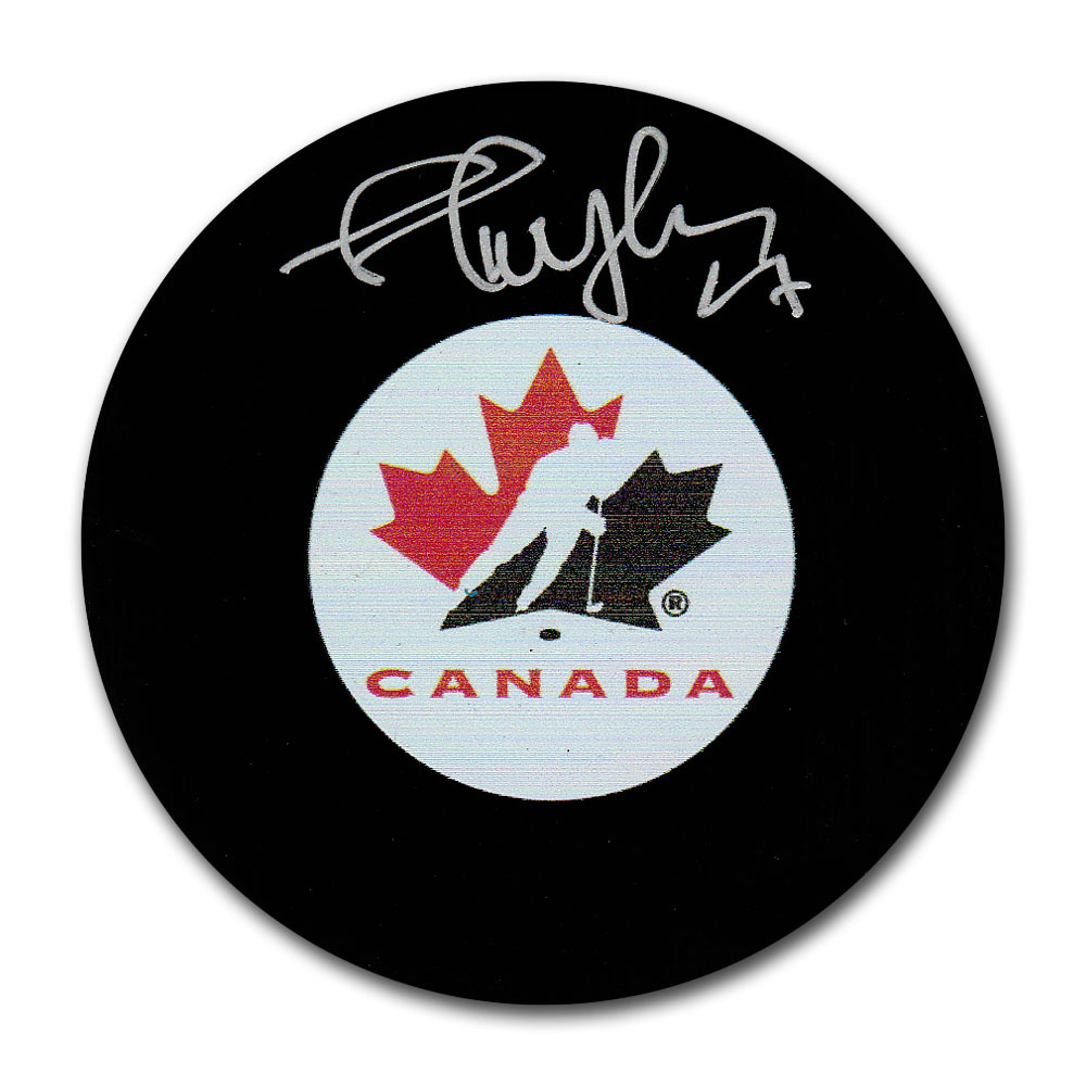 Shayne Corson Autographed Team Canada Puck