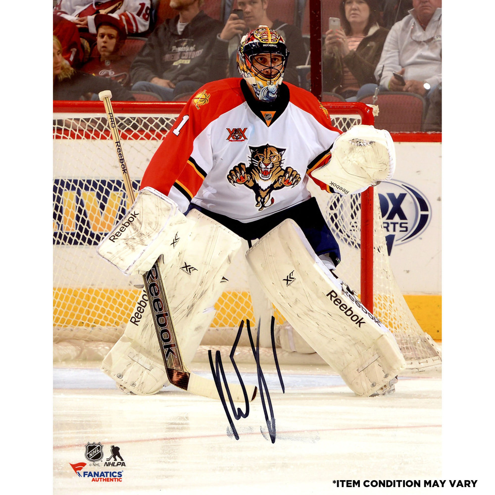 Roberto Luongo Florida Panthers Autographed 8'' x 10'' White Vertical Photograph - Imperfect Condition