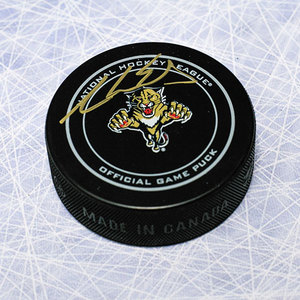 Aaron Ekblad Florida Panthers Autographed Official Game Puck