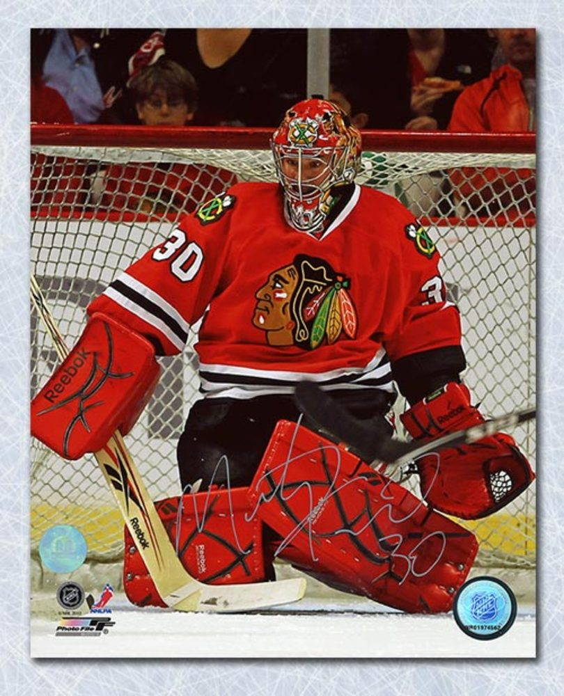 Marty Turco Chicago Blackhawks Autographed 8x10 Photo