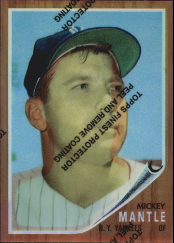 Photo of 1996 Topps Mantle Finest Refractors #12 Mickey Mantle 1962 Topps