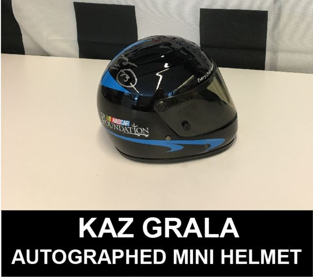 Kaz Grala Autographed Mini Helmet at Daytona 2017