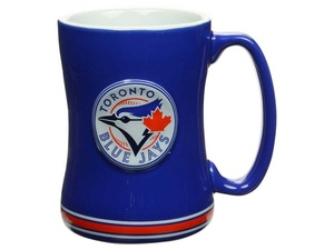 Toronto Blue Jays Sculpted Relief Mug Royal by Boelter Brands