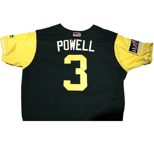 "Photo of Boog ""Powell"" Powell Oakland Athletics Game-Used Players Weekend Jersey"