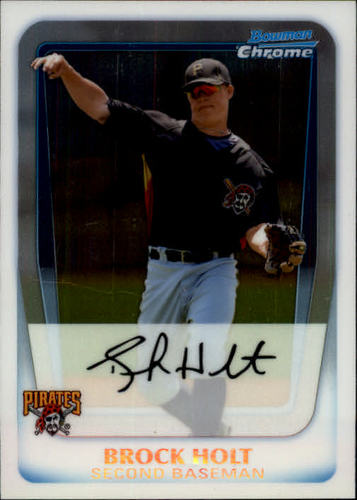 Photo of 2011 Bowman Chrome Prospects #BCP201 Brock Holt -- Red Sox post-season