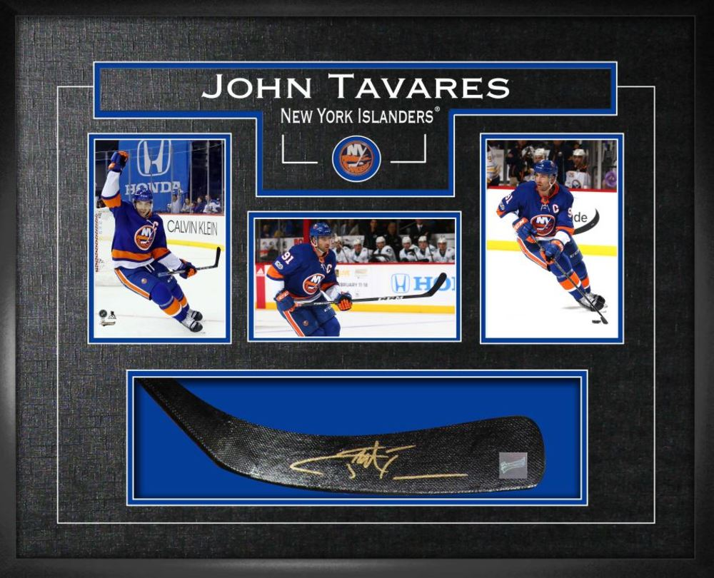 John Tavares - Signed Stickblade Islanders w/3-4x6 Photos