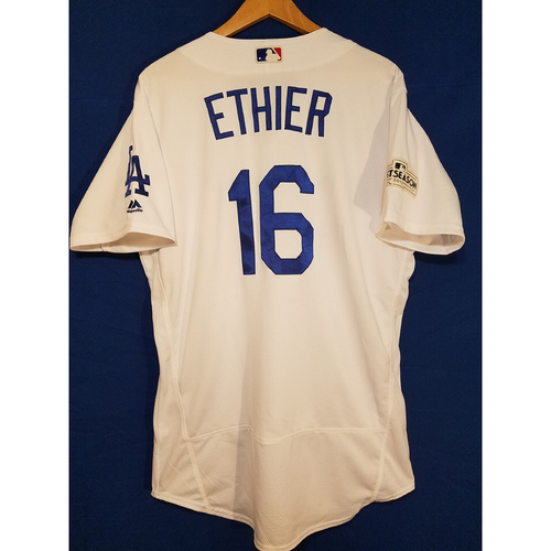 Photo of Andre Ethier Home 2017 Team-Issued Post Season Jersey
