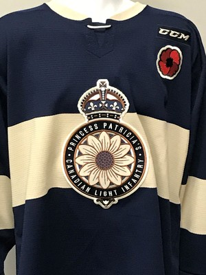 DUNCAN PIERCE 2018 MASTERCARD MEMORIAL CUP GAME ISSUED THEME JERSEY
