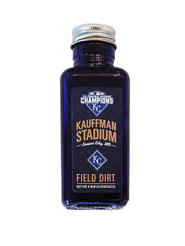Photo of Game-Used Dirt From Kauffman Stadium AL Central Clinch Game
