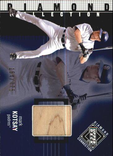 Photo of 2002 Upper Deck Diamond Connection #371 Mark Kotsay DC Bat