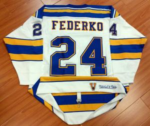 Bernie Federko St. Louis Blues Retro Mitchell & Ness Jersey *Size 52*