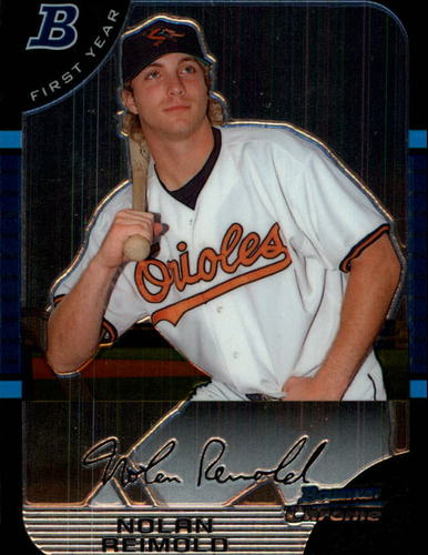 Photo of 2005 Bowman Chrome Draft #104 Nolan Reimold FY RC