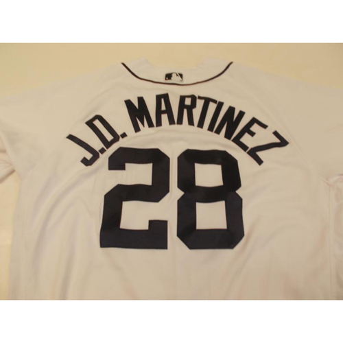 Photo of Game-Used JD Martinez Home Jersey: Home Run 101, 102 & 103-11 Hits-7 RBI's