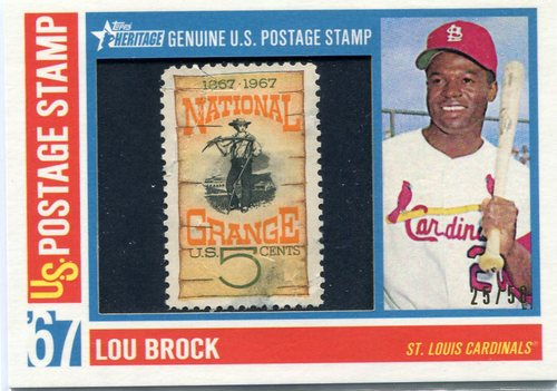 Photo of 2016 Topps Heritage Postal Stamps  Lou Brock 25/50