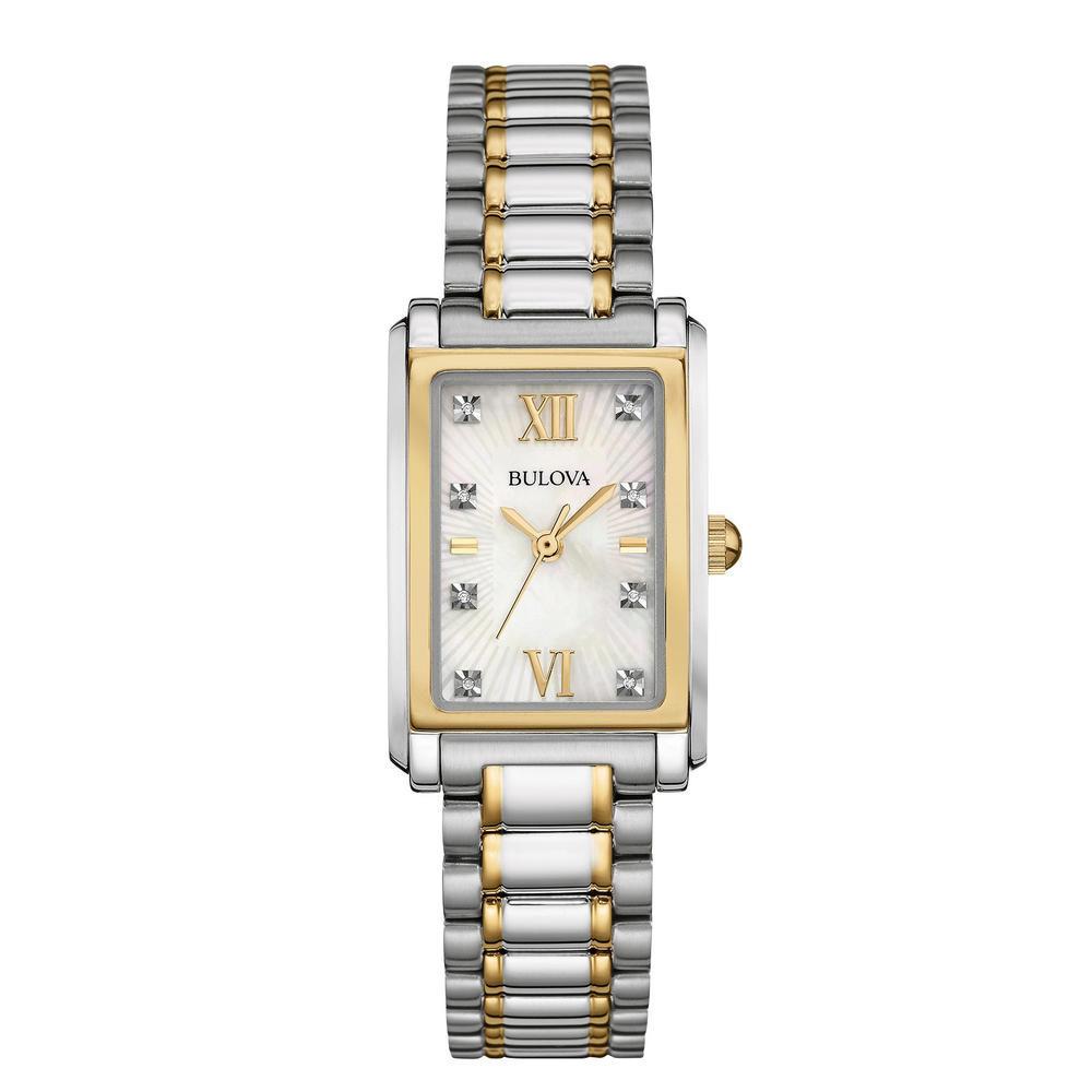 Bulova Women's Diamond Silver Stainless-steel Quartz Watch 98P144
