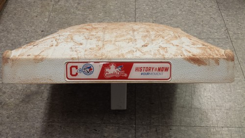 Photo of Authenticated Game Used 2nd Base from Canada Day 2016 vs Clevland Indians- innings 7-9