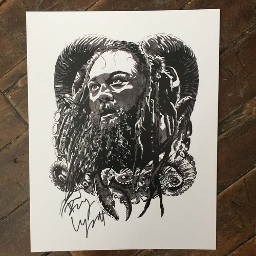 Photo of Bray Wyatt SIGNED 11 x 14 Rob Schamberger Print
