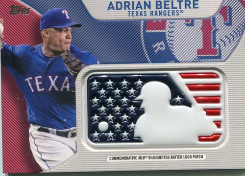 Photo of 2017 Topps Independence Day MLB Logo Patch #IDMLAB Adrian Beltre