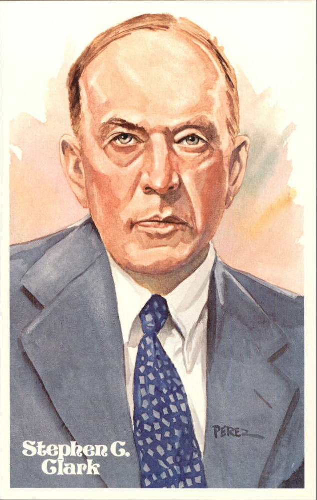 1980-02 Perez-Steele Hall of Fame Postcards #B Stephen C. Clark -- Set #08689