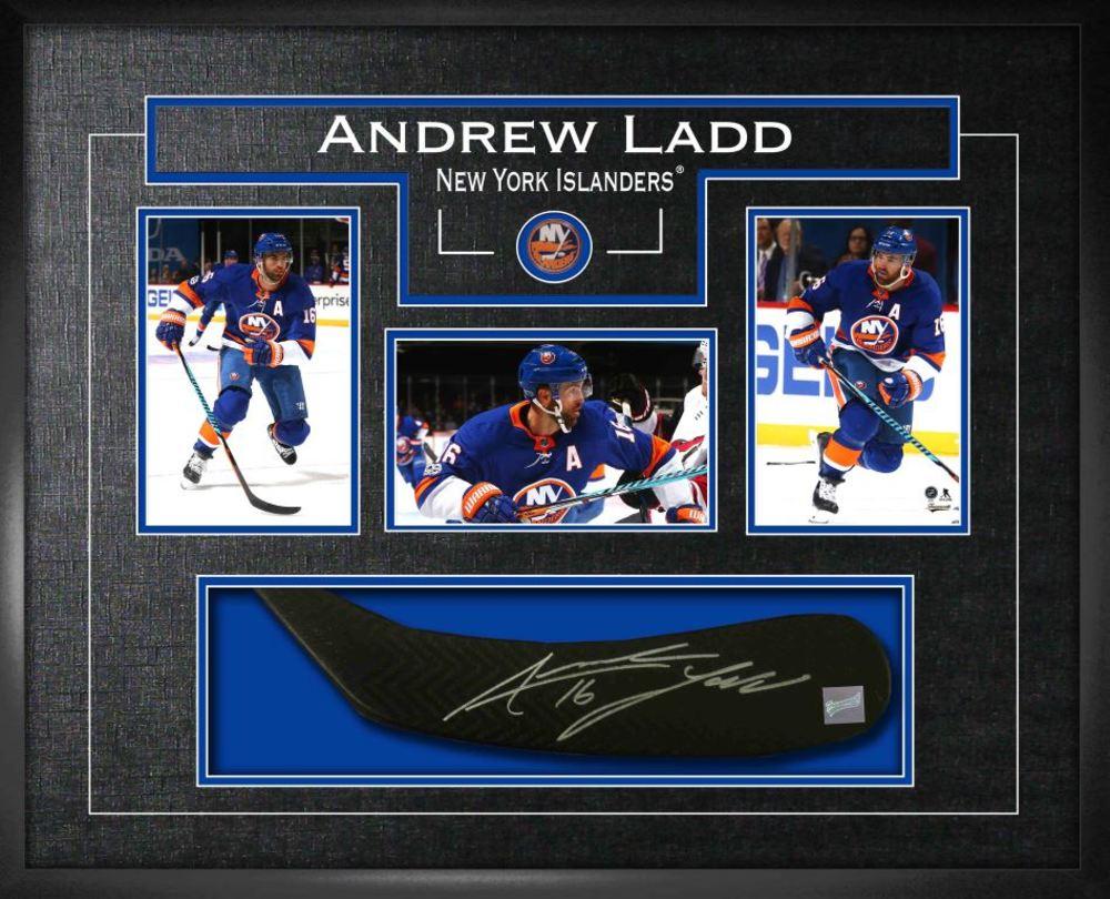 Andrew Ladd - Signed Stickblade Islanders w/3-4x6 Photos