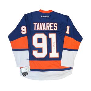 John Tavares #91 PLAYER KITZ Signature Series Premier Replica Stitched Signature New York Islanders Home Jersey