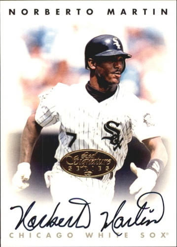 Photo of 1996 Leaf Signature Autographs Gold #144 Norberto Martin