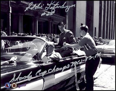 ED LITZENBERGER Toronto SIGNED 8x10 Photo Cup Parade Photo