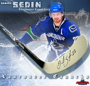 DANIEL SEDIN Signed Rebook 2K Model Stick - Vancouver Canucks