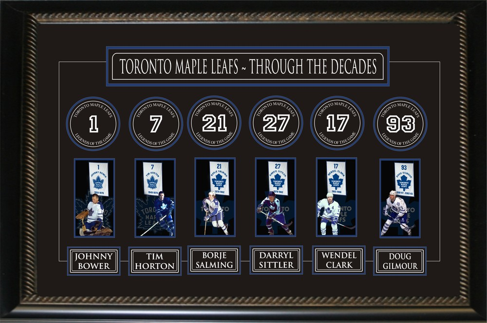 Toronto Maple Leafs Through the Deacdes Banner Frame