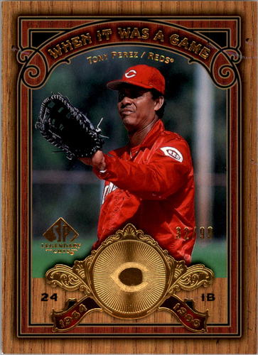 Photo of 2006 SP Legendary Cuts When It Was A Game Gold #TP Tony Perez