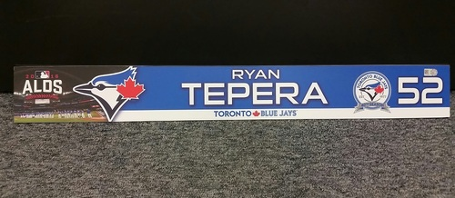 Photo of Authenticated Game Used 2016 ALDS Locker Tag - #52 Ryan Tepera
