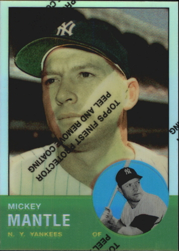 Photo of 1996 Topps Mantle Finest Refractors #13 Mickey Mantle 1963 Topps