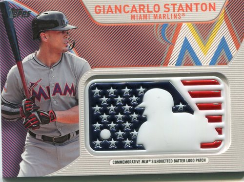 Photo of 2017 Topps Independence Day MLB Logo Patch #IDMLGS Giancarlo Stanton